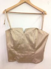 Principles - Beige Corset Top With Back Zipper - UK Size 16 (Ref E751)