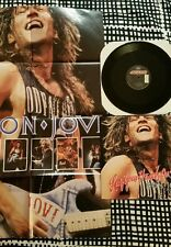 """BON JOVI LAY YOUR HANDS ON ME 1989 POLYGRAM 12"""" VINYL LIMITED EDITION & POSTER"""