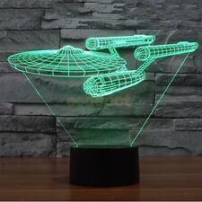 Star Trek USS Enterprise 3D LED Illuusion Light Touch Switch Desk Lamp