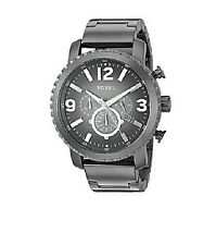 FOSSIL GAGE GRAY 50 MM STAINLESS STEEL CHRONO BRACELET WATCH BQ1651 MSRP 165