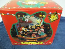 GARFIELD SING A LONG ANIMATED CHRISTMAS LIGHTED MUSIC BOX MATRIX HAPPY HOLIDAYS