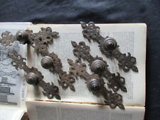Vintage French Furniture Handles x 6 scrolls, knobs