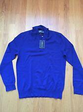 Polo Ralph Lauren 100% Cashmere Half Zip Sweater Blue Small New $425