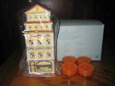 PARTYLITE Cafe Amsterdam Tealight Candle Holder House New in Box P8275 & Candles
