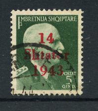1943 - LOTTO/15077 - ALBANIA - 5 q. VERDE SOPRASTAMPATO - USATO