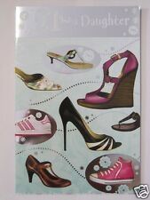 FANTASTIC COLOURFUL SHOES 21 TODAY DAUGHTER 21ST BIRTHDAY GREETING CARD