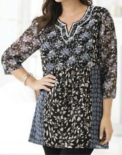 """Ulla Popken All the Blues You Are Tunic 12 14 XL NEW    """"q"""