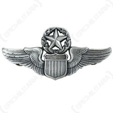 New US COMMANDING PILOT WINGS - Metal Uniform Cap Pin Badge Air Force Commander