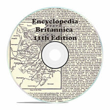 1911 ENCYCLOPEDIA BRITANNICA, 11th AND 12th edition DVD, BOTH VOLUMES IN PDF