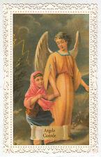 SANTINO HOLY CARD MERLETTATO CANIVET ANGELO CUSTODE