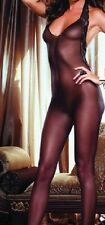 Donna Lingerie Pizzo Nero Sexy body-stocking Velato in pizzo Backless All-In-One
