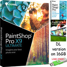 Corel PaintShop Pro X9 Ultimate + FastFlick + Winter Wonderland -DL ver on 16GB