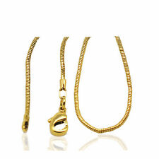 18 k Gold Plated Snake Chain Lady Necklace for Women Chain 1 mm width N416