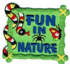 Boy Girl FUN IN NATURE snake Fun Patches Crests GUIDES SCOUTS Outside Center