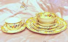 """ANTIQUE PAREEK JOHNSON BROS ENGLAND """"YALE"""" PATTERN PLACE SETTING FOR ONE ~CUTE~"""