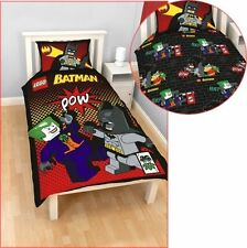 Lego Batman Joker Pow Reversible Single Panel Bed Duvet Quilt Cover Set Gift