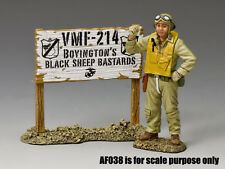 """NEW! King & Country US Marine Air Corps Major Gregory """"Pappy"""" Boyington AF039"""