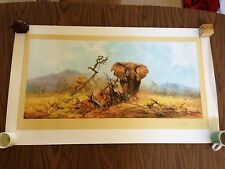 DAVID SHEPHERD LIMITED SIGNED ELEPHANT AND THE ANT HILL #781