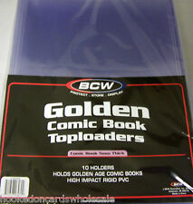 1 Pack 10 BCW 8 x 11 x 5mm Golden Age Comic Topload Holder