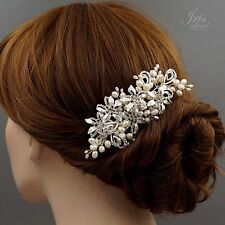 Bridal Hair Comb Freshwater Pearl Crystal Headpiece Wedding Accessories 00886 S