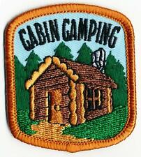 Boy Girl Cub Log CABIN CAMPING camp out Fun Patches Crests Badges GUIDE SCOUT
