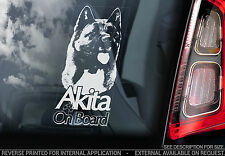 Akita - Car Window Sticker - Dog on Board Sign - American Akita Sign Gift - TYP5