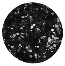 Nail Art 1mm Hexagon GLITTER for UV Gel Acrylic Hex Jet Black #TD-01