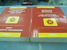 1997 CHRYSLER DODGE PLYMOUTH LHS CONCORDE INTREPID VISION SERVICE MANUALS
