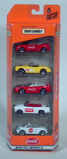 Matchbox Coca-Cola  5 Pack Gift Set Corvette Mustang VW Beetle Scale Models