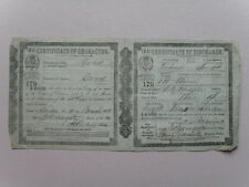 British Mercantile Seaman Certificate of Character and Discharge, 1862 - Scarce