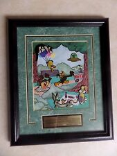 Rare Beautiful Looney Tunes 1998 Framed Art Pin Set Limited Edition #195/2500