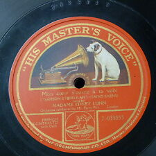 """78rpm 12"""" MME KIRKBY LUNN mon coeur s`ouvre a ta voix , single side"""
