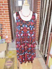 Wunderschönes Sommer Kleid L 44 46 H&M Shirtkleid A-Linie Viskose Schwarz bunt