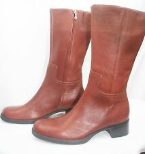 NEW Womens  Brown ROCKPORT  Mid Calf Waterproof Leather Riding  BOOTS Size 8