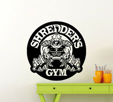Shredder Gym Wall Decal Turtles Ninja Fitness Vinyl Sticker Decor Mural 144ex
