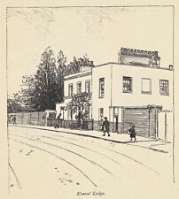Kensal Lodge, Middlesex, Hugh Thomson print, 1909