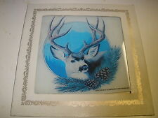 Glass square Deer Buck mirror picture
