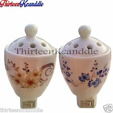 ELEGANT BEAUTIFUL ARTWORK PORCELAIN LAMP AROMATHERPY OIL NIGHT LAMPS WITH LID