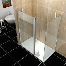 70+70cm Walk in dusche Duschabtrennung 8mm Sicherheitsglas Nano mit Schwenktür