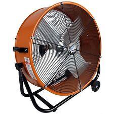 24 Inch MaxxAir Pro 2-Speed Big Industrial Heavy Duty Shop Tilt Drum Cooling Fan