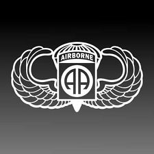 82nd Airborne Jump Wings Decal Parachutist Badge Military Sticker