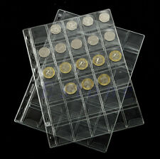 42 Pockets Classic Coin Holders Sheets for Storage Collection Album 1 Sheet