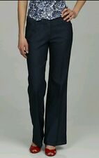 LARRY LEVINE Boot Cut Jeans size 12 stretch indigo High waist --BRAND NEW--