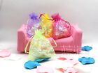 100 PCS 9X12CM ORGANZA WEDDING FAVOUR CANDY CHRISTMAS GIFT BAGS JEWELRY POUCHES