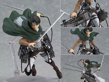 New figma 213 Attack on Titan Shingeki no Kyojin Levi Rivaille Figure Figurine