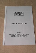 Denford Viceroy Lathe Manual (Worldwide Shipping)