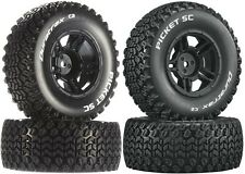 DuraTrax Mounted SC Picket Tires / Wheels (4) Traxxas Slash 2WD Front / Rear