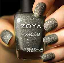 ZOYA PixieDust ZP661 LONDON gray matte sparkle nail polish lacquer ~ PIXIE DUST