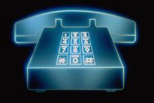 520090 GRAPHIC telefono su sfondo nero A4 FOTO STAMPA texture