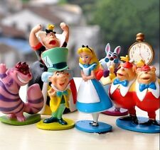 Cartoon Gift Alice in Wonderland Playset 6pcs Figure Cake Topper Toy Doll Set